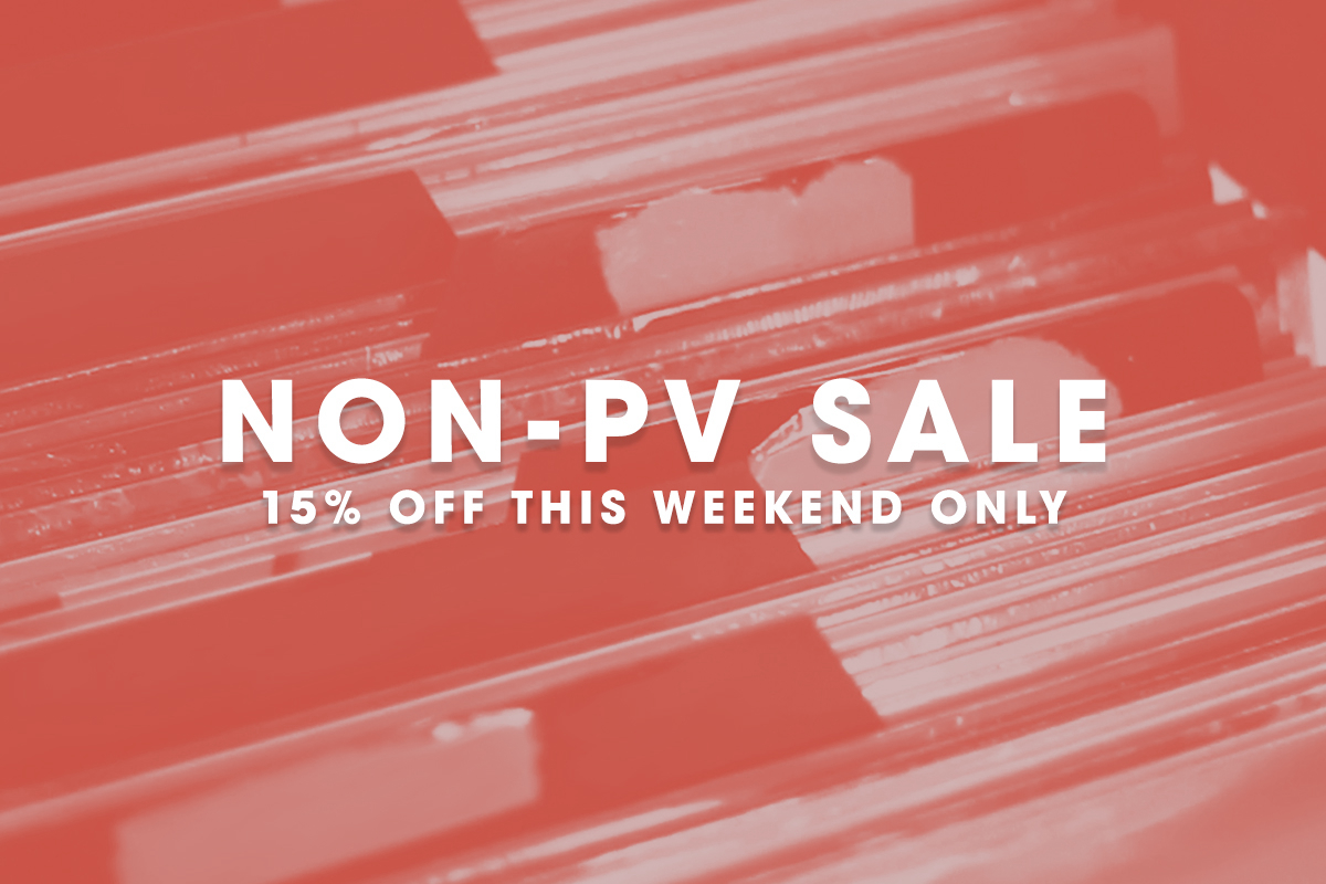 Save 15% this weekend ONLY in our Non-PV Shop
