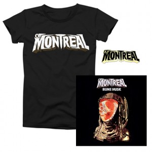 Rune Husk  of Montreal Logo T-Shirt  of Montreal Enamel Pin