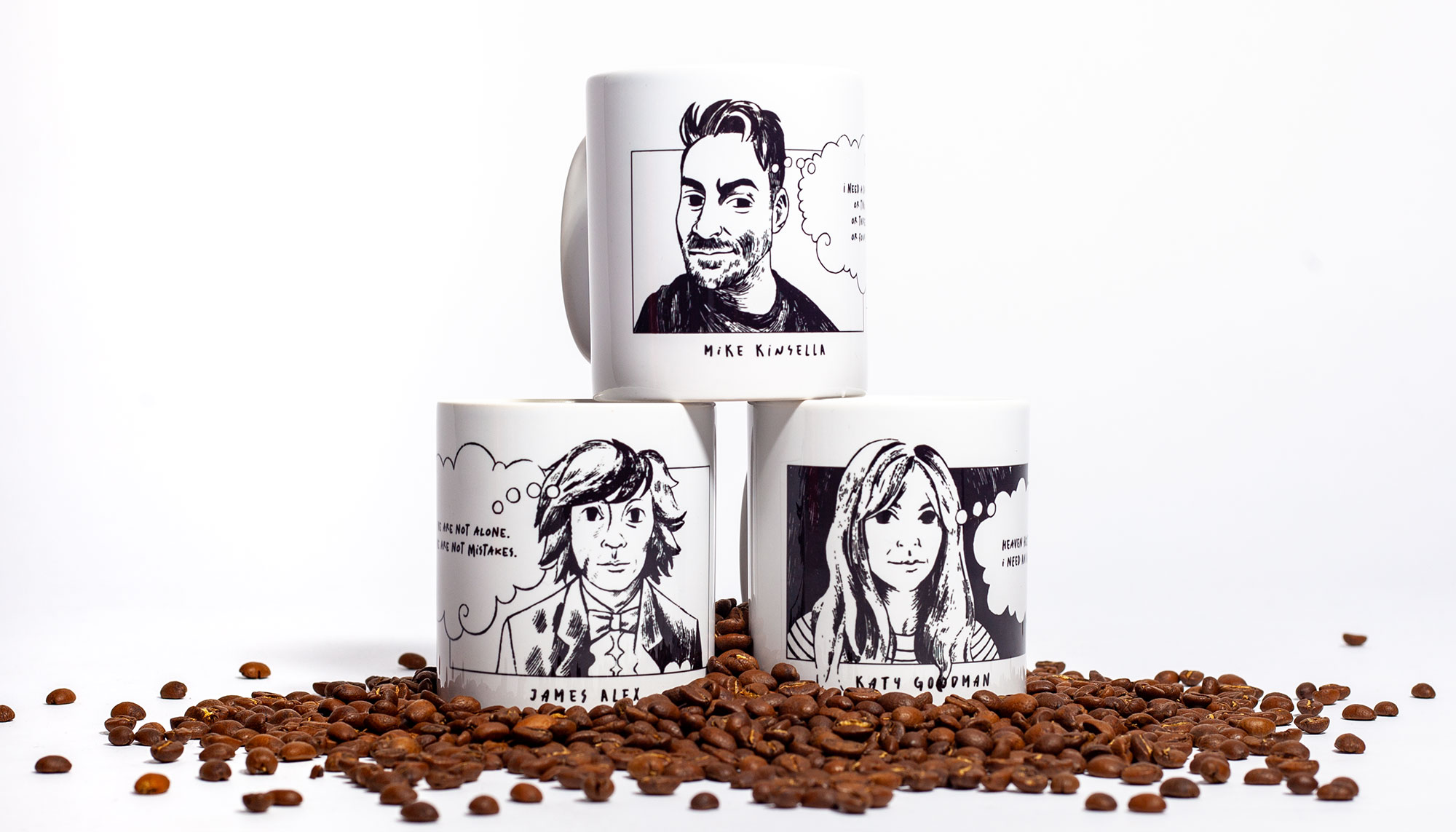 Introducing our Mugshots series - coffee mugs featuring PV greats - order yours today!