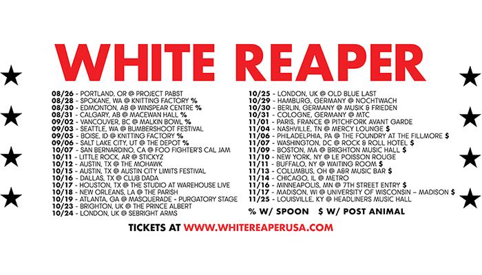 White Reaper announce fall tour!