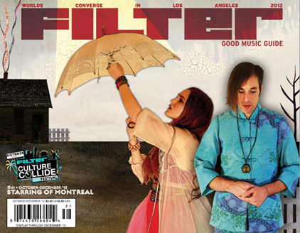 of Montreal on the Cover of FILTER'S Good Music Guide