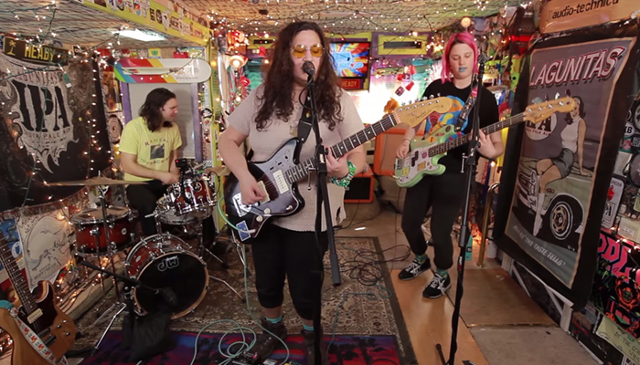 Watch Palehound's live Jam in the Van session