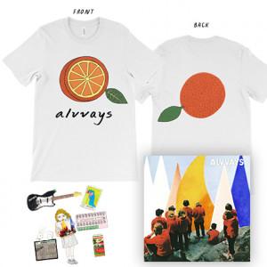 Antisocialites  Half Orange T-Shirt  6 Enamel Pin Set