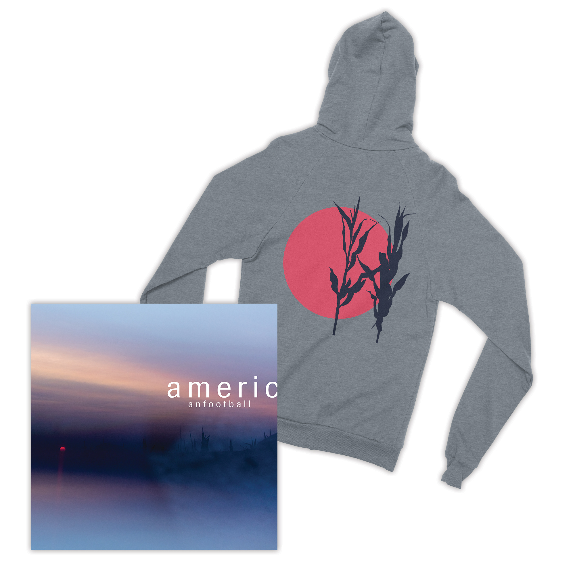 American Football (LP3) + Red Sun Zip-Up Sweatshirt